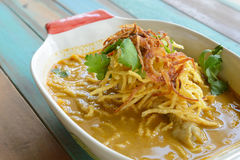 Khao Soi. (Northern Thai Noodle Curry Soup Stock Images
