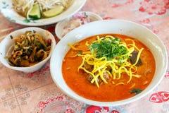 Khao Soi Recipe Thai mat Arkivbilder