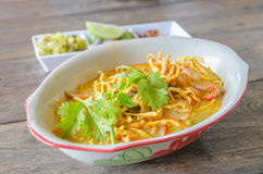 Khao Soi Recipe, Thai Northern Style Curried Noodle Stock Photography