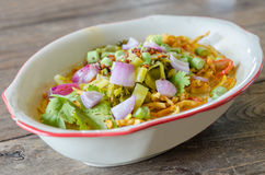 Khao Soi Recipe, Thai Northern Style Curried Noodle Stock Image
