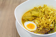 Khao soi Thai Crispy Noodle chicken curry Royalty Free Stock Photo