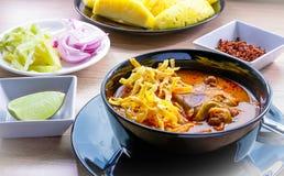 Khao Soja tajlandzki jedzenie Fotografia Royalty Free