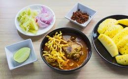 Khao Soja tajlandzki jedzenie Obrazy Stock