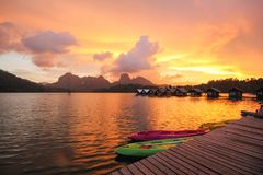 KHAO SOK国家公园, Suratthani泰国 免版税库存图片
