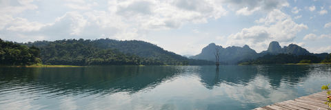 Khao Sok National Park in Cheow Lan Lake at Ratchaprapa or Rajja Stock Photography