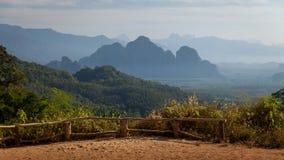 Khao Sok National Park siktspunkt Fotografering för Bildbyråer