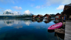 Khao Sok National Park. In Southern Thailand is an amazing place. It is covered by the oldest evergreen rainforest in the world, huge limestone mountains Stock Photos