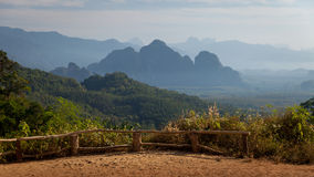 Khao Sok National Park view point. View Point in popular tourist National Park Khao Sok. Asia, Thailand. Photo was taken in January 2016 Stock Image