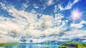 Khao sok park. Mountain and lake in Suratthani, Thailand Stock Photo