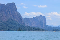 Khao sok park, mountain and lake Stock Photos