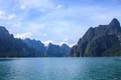 Khao sok park, mountain and lake Stock Photo