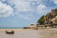 Khao takiab beach in Thailand. Khao Takiab Beach is located in Prachuab Khiri Khan.The water there is very clean and the waves are just gentle ripples. At the Royalty Free Stock Images