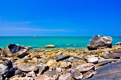 Khao takiab. The green sea, the sky is blue Stock Photos