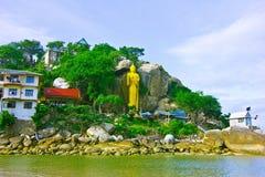 Khao takiab  temple. A temple is in mountain sea hua hin Royalty Free Stock Image