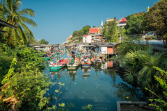 Khao Tao - an idyllic fishing village in Thailand Royalty Free Stock Photos