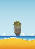 Khao Tapu, Таиланд Пляж, остров, seascape с морем и текстура песка Предпосылка для плаката лета тропического вектор Стоковые Фото