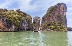 Khao tapu island stand in andaman sea at Thailand Royalty Free Stock Images