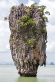 Khao Tapu rock at James Bond island, Andaman Sea,  Thailand Stock Images