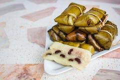 Khao Tom Mat or Khao Tom Pad, Thai dessert made from banana and Royalty Free Stock Photos