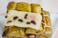 Khao Tom Mat or Khao Tom Pad, Thai dessert made from banana and Royalty Free Stock Photography