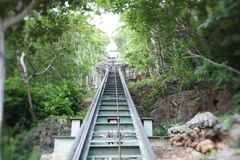 Khao wang phra nakhon khiri historical park. Cabin, cable car, forest Stock Photos