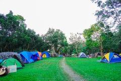 Khao yai, Nakhon Ratchasima, Tailandia: Campo turístico en el camping, sitio para acampar imágenes de archivo libres de regalías