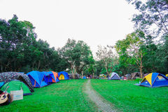 Khao Yai, Nakhon Ratchasima, Thailand: Touristisches Lager am Campingplatz, Campingplatz Lizenzfreie Stockbilder