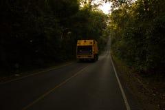 Khao yai national park. Garbage Truck on khao yai national park Royalty Free Stock Image