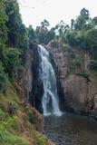 Stunning scenery of Haew Narok Waterfall,Khao Yai National Park,Nakhon Ratchasima province,Thailand. Khao Yai National Park is Thailand`s first national park and stock images