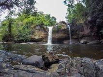 Stunning scenery of Haew Suwat Waterfall,Khao Yai National Park,Nakhon Ratchasima province,Thailand. Khao Yai National Park is Thailand`s first national park and Stock Image