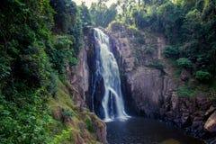 Stunning scenery of Haew Narok Waterfall,Khao Yai National Park,Nakhon Ratchasima province,Thailand. Khao Yai National Park is Thailand`s first national park and Stock Photos
