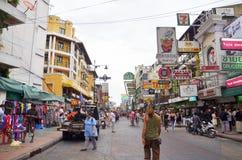 Khaosan road in Bangkok Royalty Free Stock Images