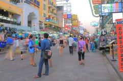 Khaosan Road Bangkok Tourism Royalty Free Stock Image