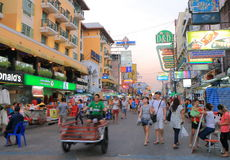 Khaosan Road Bangkok Tourism Stock Photos