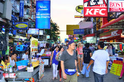 Khaosan-Straße Lizenzfreie Stockbilder