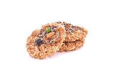 Khaotan, rice cracker on white background Royalty Free Stock Image