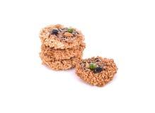 Khaotan, rice cracker on white background Royalty Free Stock Photography