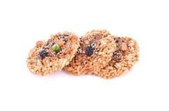 Khaotan, rice cracker on white background Stock Images