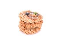 Khaotan, rice cracker on white background Royalty Free Stock Images
