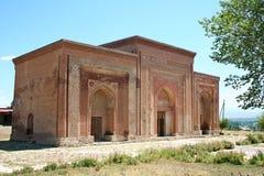 Kharakhanid陵墓在Uzgen,吉尔吉斯斯坦 免版税库存图片