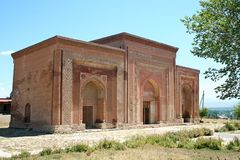 Kharakhanid Mausoleum in Uzgen, Kyrgyzstan Royalty Free Stock Image