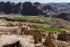 Kharanaq老镇在伊朗 免版税图库摄影
