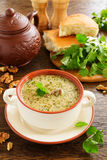 Kharcho soup of beef with walnuts and rice. Royalty Free Stock Image