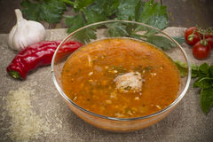 Kharcho soup Royalty Free Stock Image