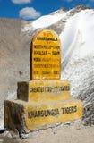 Khardung la - the highest road automobile asphalt pass Stock Images