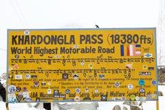 Khardung La Pass, Ladakh, India Stock Photos