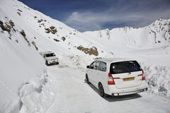 Khardung La pass - one of the highest motorable roads Royalty Free Stock Images