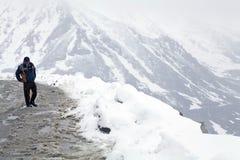 Khardung La Pass under the snow, Ladakh, India Royalty Free Stock Image