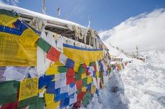 Khardungla,公路在印度 免版税库存照片