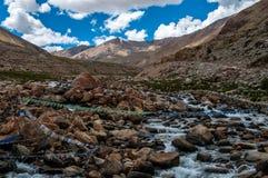 Khardungla Durchlauf Stockfotografie